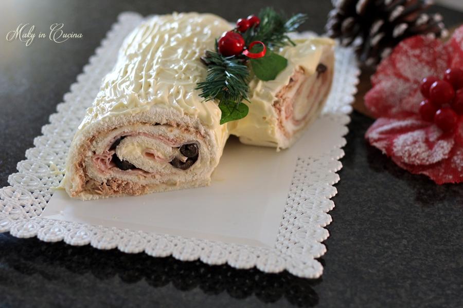 Tronchetto Di Natale Video Ricetta.Tronchetto Di Natale Salato Ricetta Antipasto Veloce