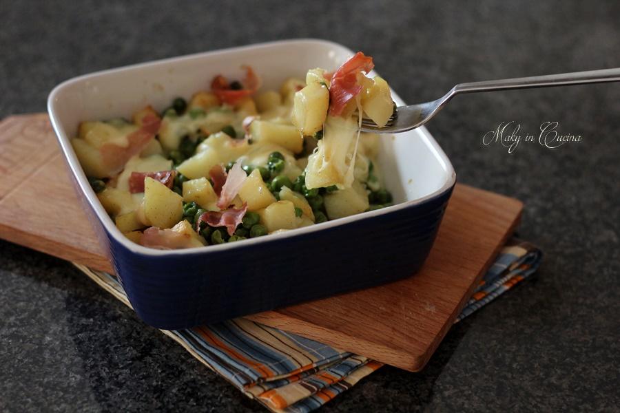 patate piselli e speck