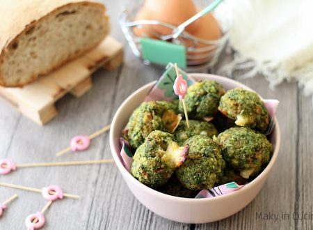 Polpette di spinaci provola e pancetta