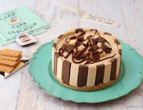 Cheesecake wafer e caffè