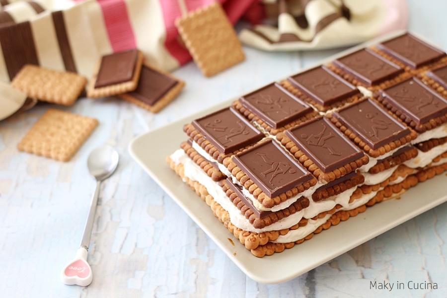 mattonella di biscotti al cioccolato