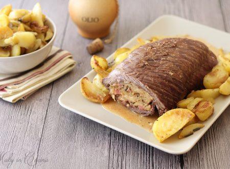 Tasca di vitello ripiena con patate