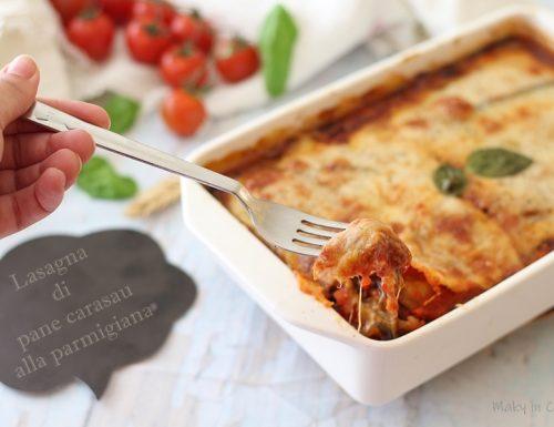 Lasagna di pane carasau alla parmigiana