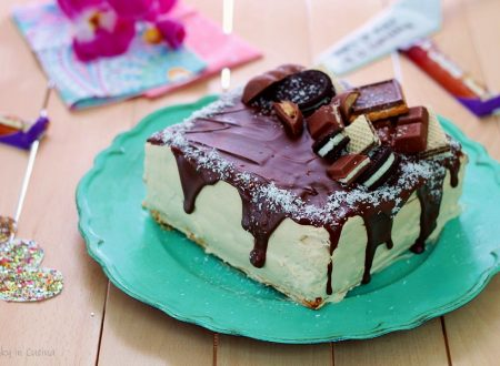 Torta fredda con sfoglia e cioccolato