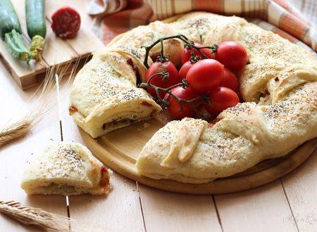 Fiore di pizza zucchine e salame