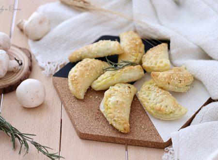 Empanadas con funghi e piselli