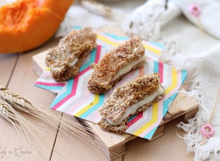 Sandwich di zucca filanti al forno