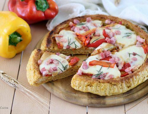 Crostata morbida alla zucca con peperoni, pancetta e provola