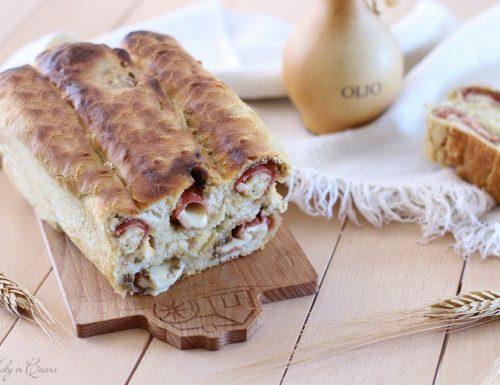 Plumcake girelle con crema di olive e salame