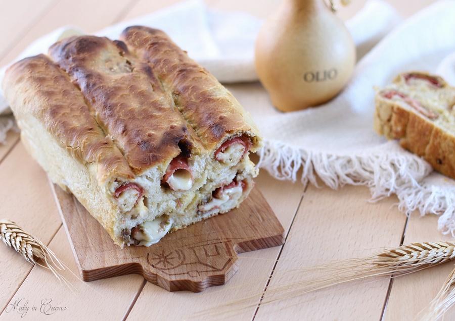 plumcake girelle con crema di olive