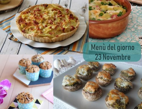 Menù del giorno 23 Novembre