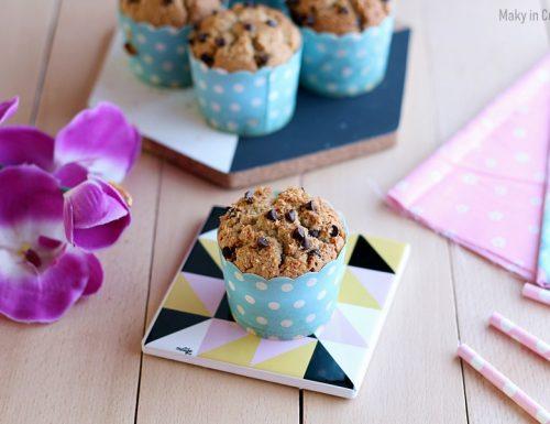 Muffin senza farina cocco e cioccolato