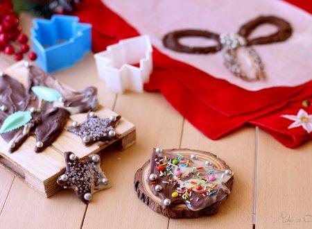 Lastre di cioccolato natalizie (chocolate slab)