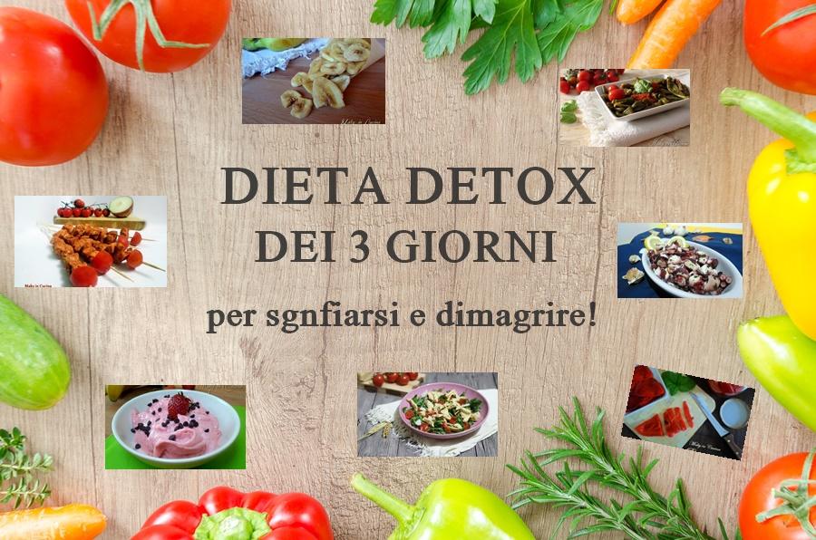 Dieta detox dei 3 giorni