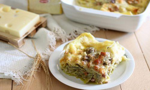 Lasagne ai carciofi pancetta e crema di formaggio