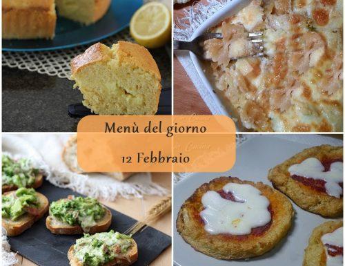 Menù del giorno 12 Febbraio