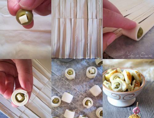 Sfoglia con olive ripiene al formaggio
