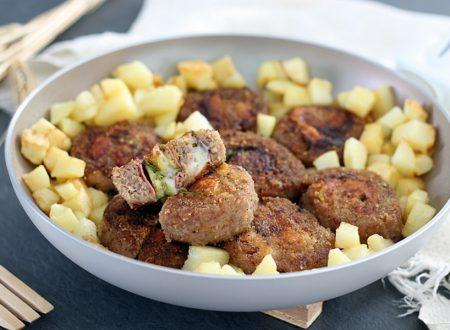 Girelle di carne con zucchine e salame