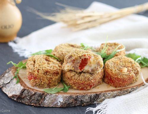 Girelle di carne con peperoni e prosciutto