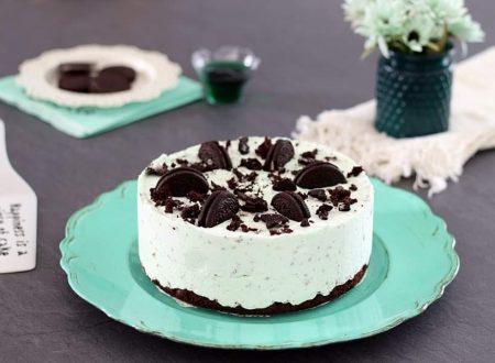Cheesecake menta e Oreo