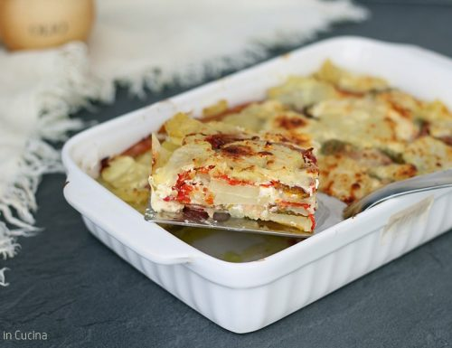 Parmigiana di patate e peperoni