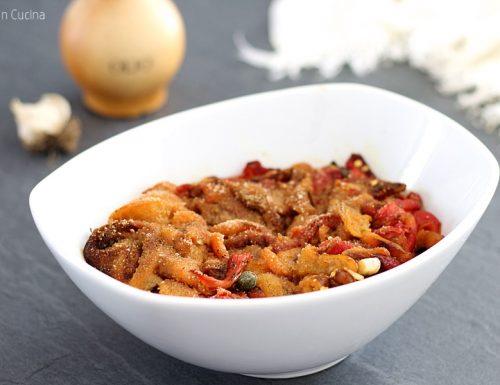Peperoni al gratin in microonde