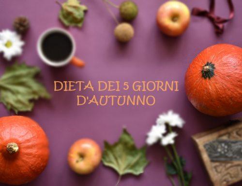 Dieta dei 5 giorni d'autunno