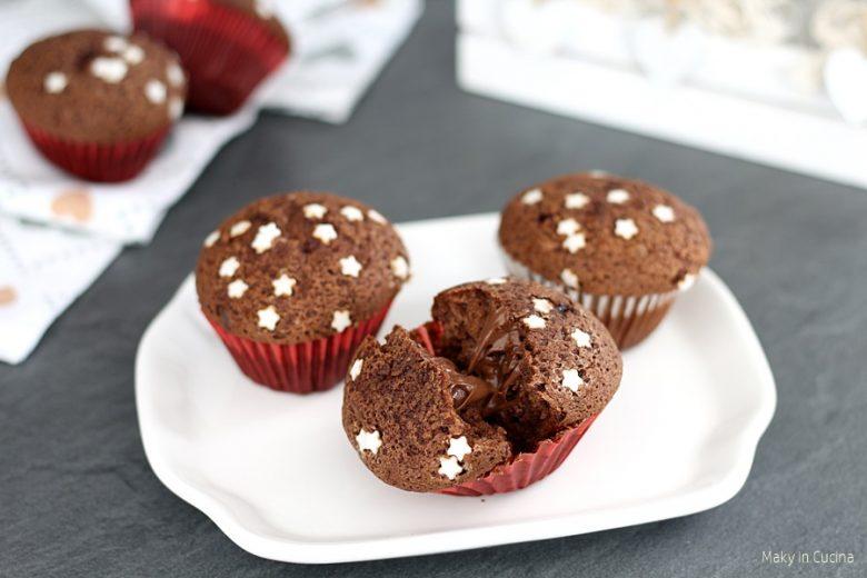 Muffin stellari cuor di Nutella