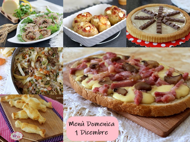 Menù Domenica 1 Dicembre