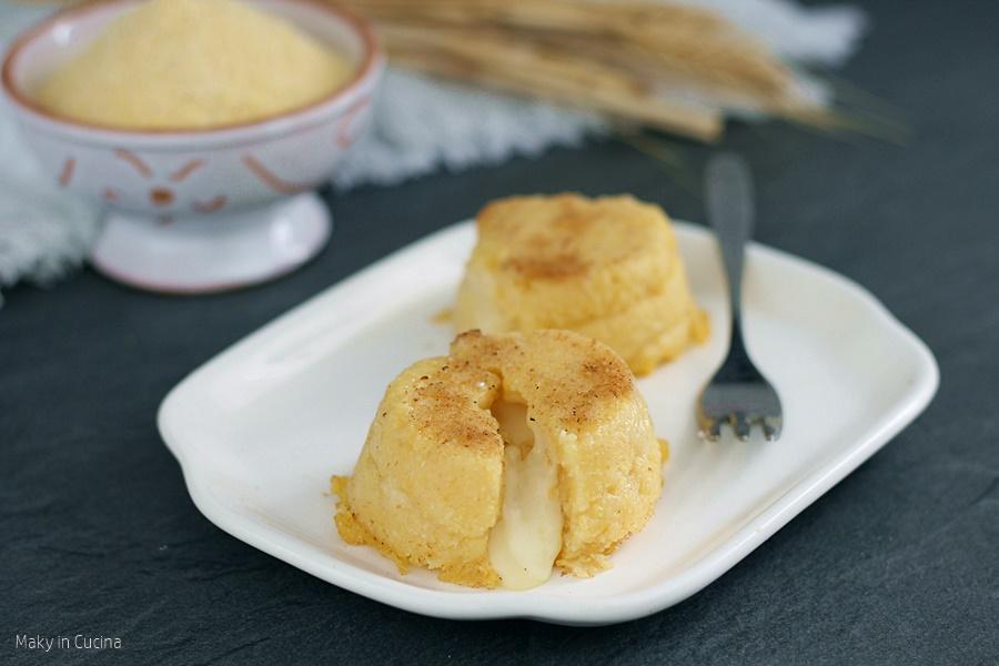 Tortini di polenta dal cuore morbido