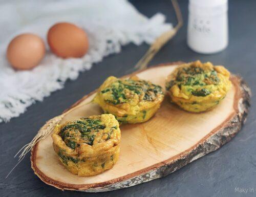 Muffin di frittata con spinaci