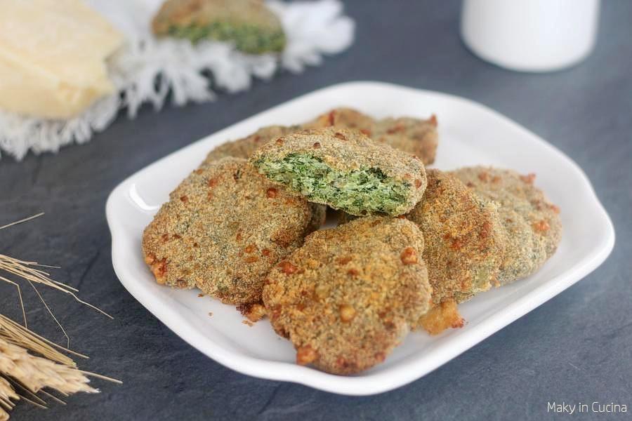 Crocchette pollo e spinaci