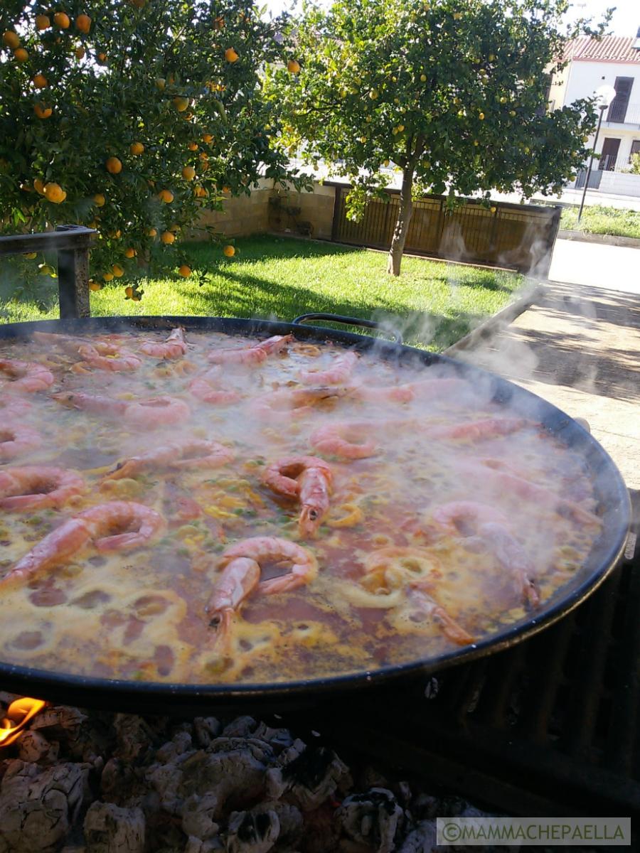 Paella di pesce spagnola
