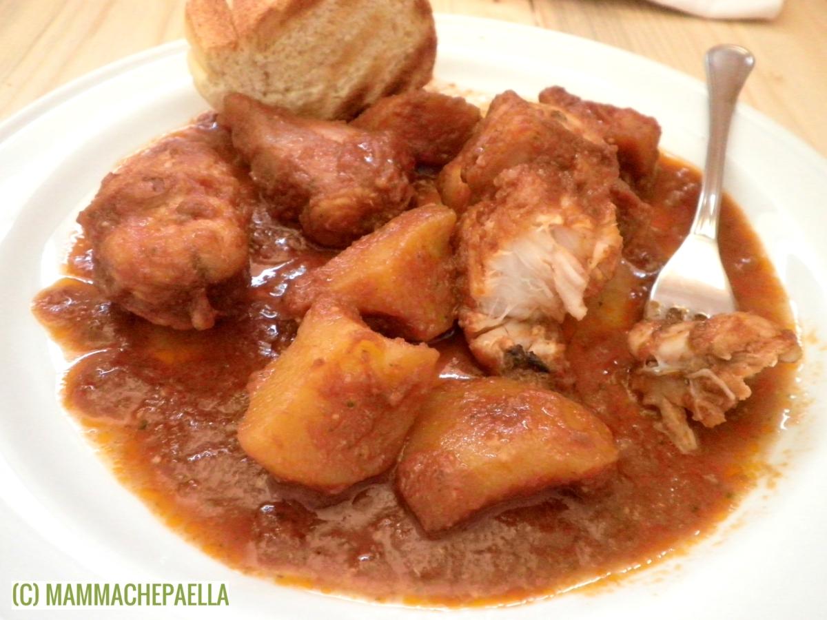 Coda di rospo stufata con patate