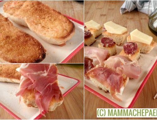 """Pane con pomodoro alla catalana ovvero il """"pa amb tomàquet"""""""