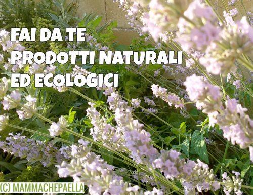 Fai da te prodotti naturali ed ecologici