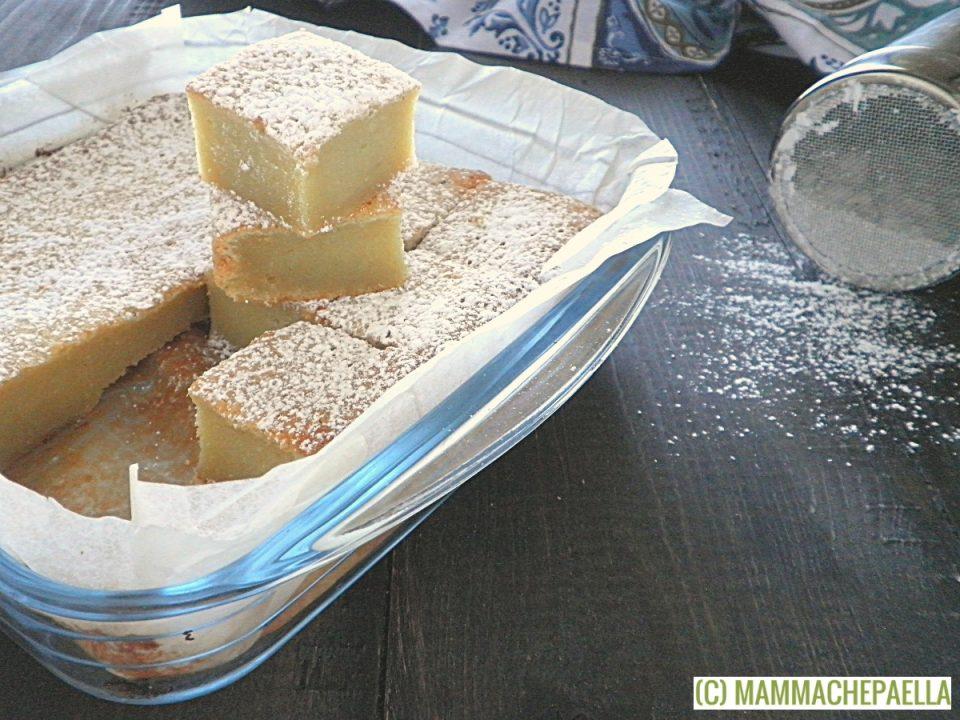 Torta brownie con cioccolato bianco e patate dolci