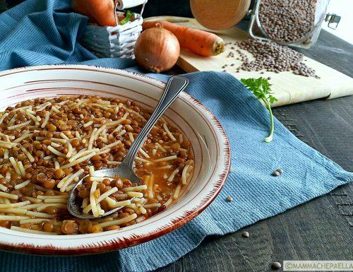 Pasta e lenticchie, ricetta semplice in pentola a pressione