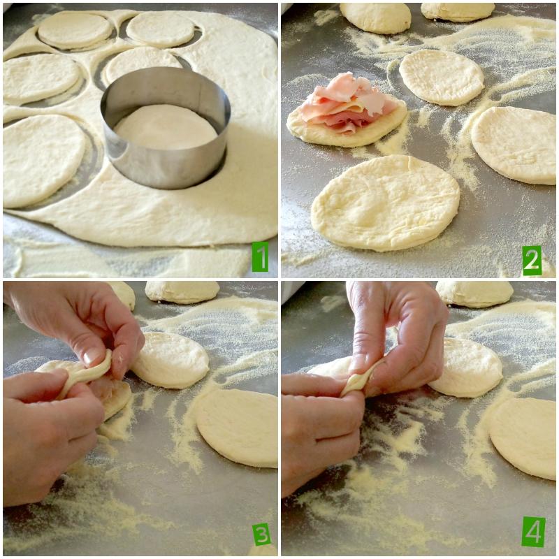 Preparando bomboloni lievito madre ricetta prosciutto formaggio