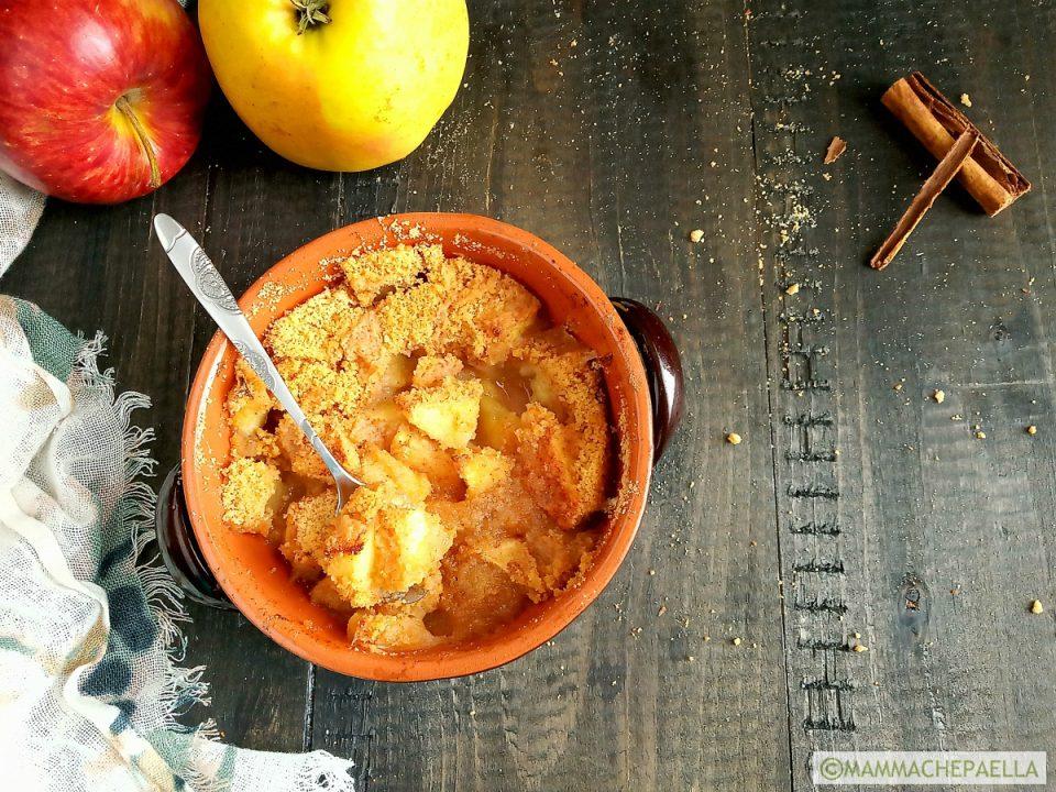 Simil crumble di mele veloce e leggero