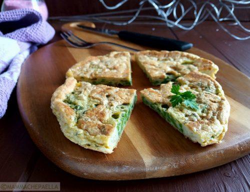 Frittata di asparagi semplice, alta e sofficissima