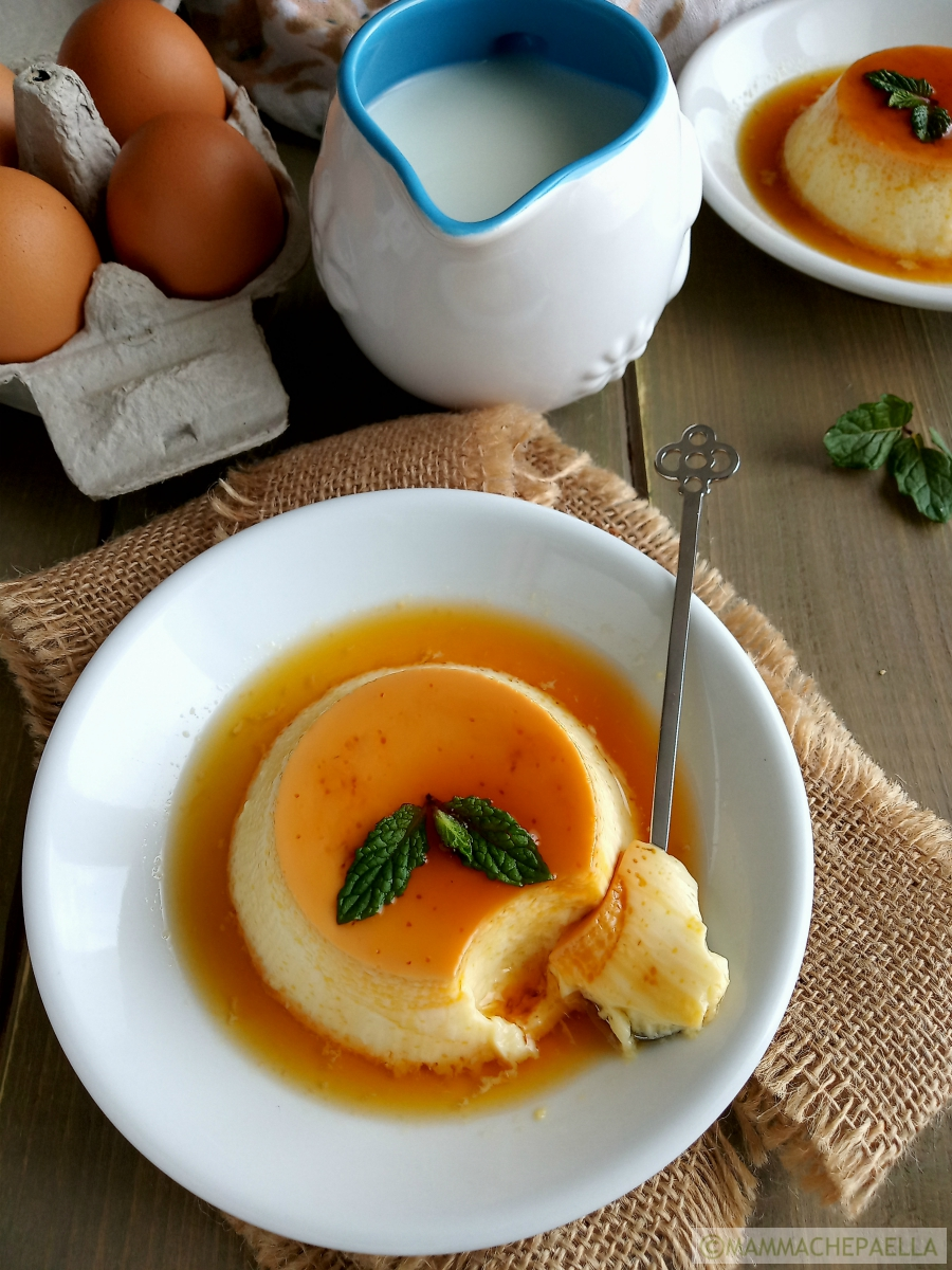 Flan di uova e latte
