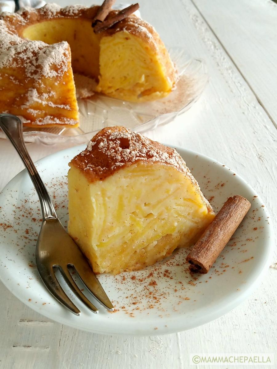 Torta di mele cremosa e cannella