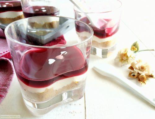 Cheesecake monoporzione senza cottura in forno