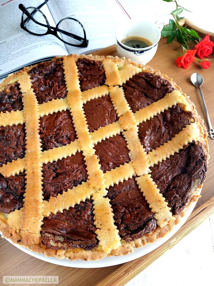 Crostata alla crema pasticcera e Nutella