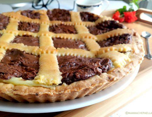 Crostata alla crema pasticcera e Nutella, golosità assoluta