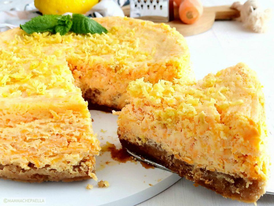 ACE cheesecake con arancia carota e limone