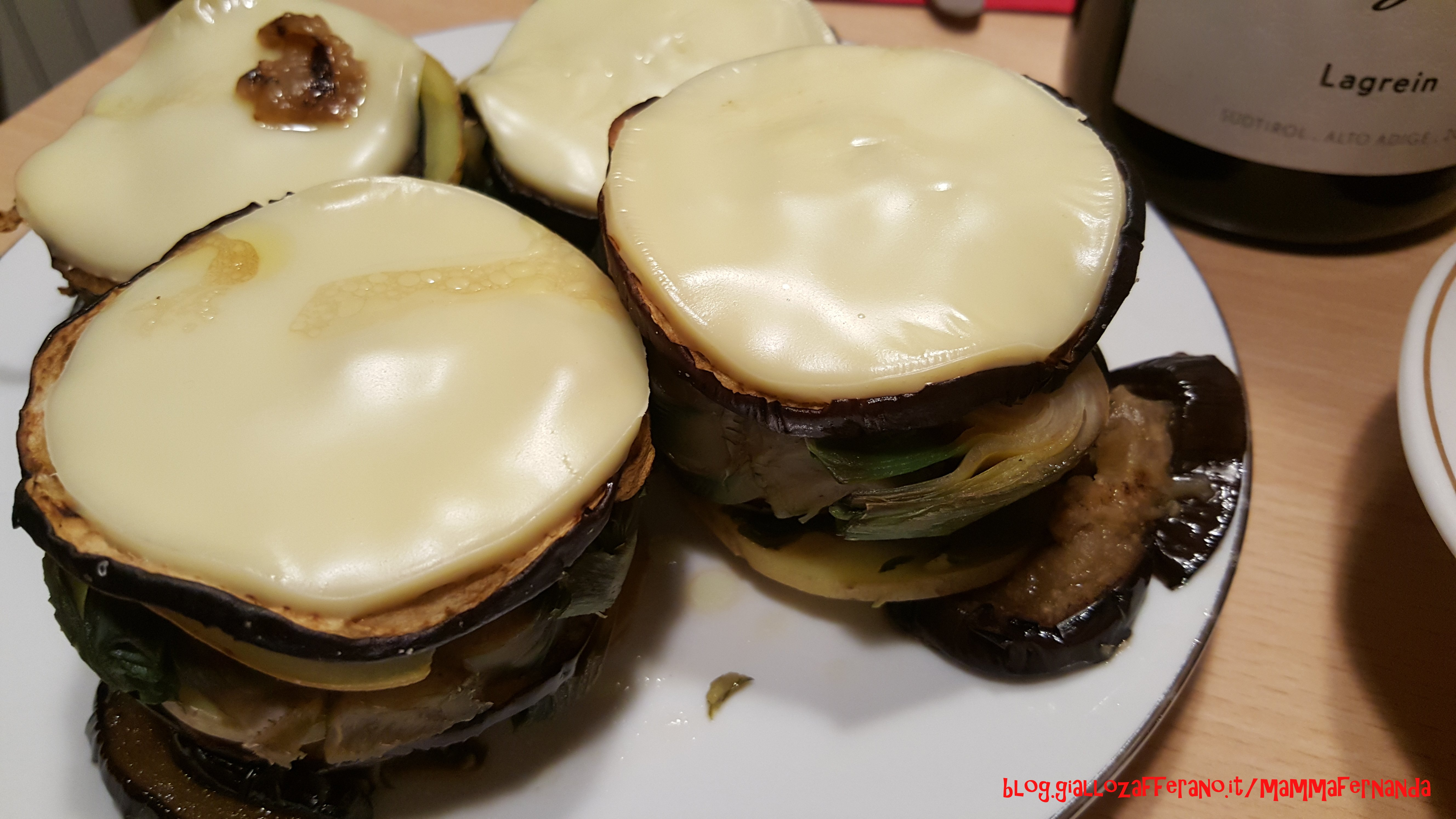 Torrette di melanzane carciofi patate