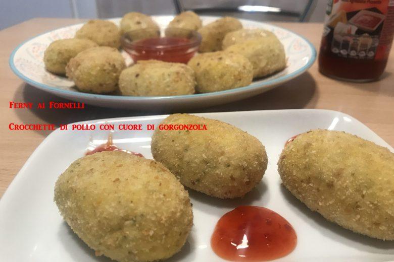Crocchette di pollo con cuore di gorgonzola