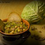 Zuppa di legumi con verza